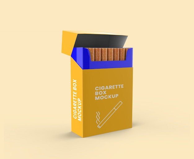 The best box mockup is available in 5 different views and would be perfect to showcase shipping information and branding design from all angles of the box. Premium Psd Cigarette Box Mockup