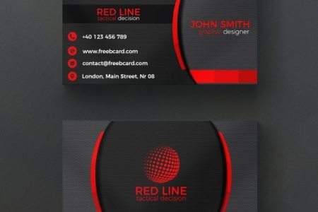 Cards PSD   3 700 free PSD files Corporate red and black business card