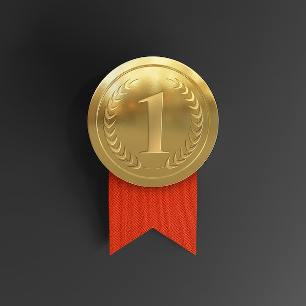 This medal is only made for digital purposes though and but can be made for printing as well. Premium Psd First Place Award Gold Medal Mockup