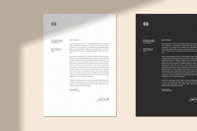 Image on preview is not included in the file. Letterhead Mockup Freepik
