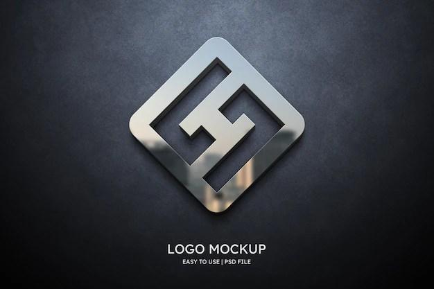 A beautiful photorealistic 3d logo mockup created by designbolts. 3d Logo Mockup Images Free Vectors Stock Photos Psd