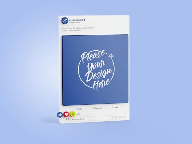 This editable social media mockup psd set is created for post feed display. Facebook Mockup Freepik