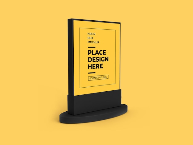 It is a 3d rendered and. Premium Psd Neon Box Mockup Design Rendering