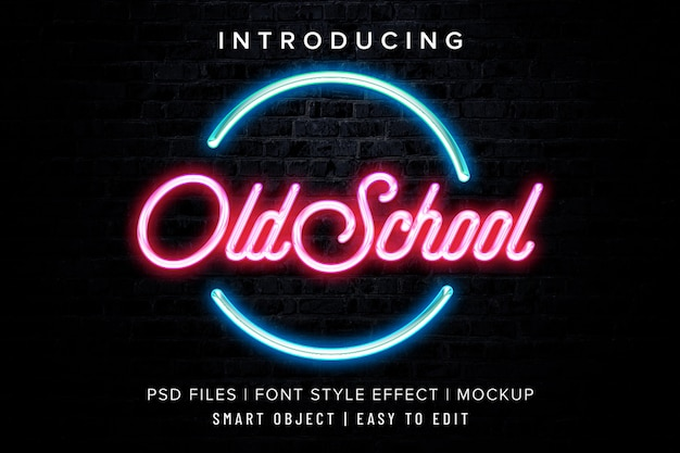 Find & download the most popular neon psd on freepik ✓ free for commercial use ✓ high quality images ✓ made for creative projects. Premium Psd Old School Neon Font Effect Style Mockup