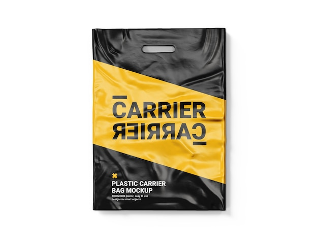Paper pouch bag mockup bundle. Premium Psd Plastic Carrier Bag Mockup Template