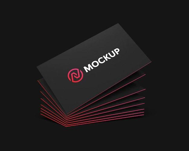 10 mockups de cartões de. Free Psd Mockup Of Business Card With Photo Of City