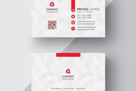Cards PSD   3 700 free PSD files White business card with red details