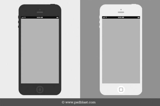 Mobile Wireframes Vectors  Photos and PSD files   Free Download Wireframe flat iPhone mockup PSD
