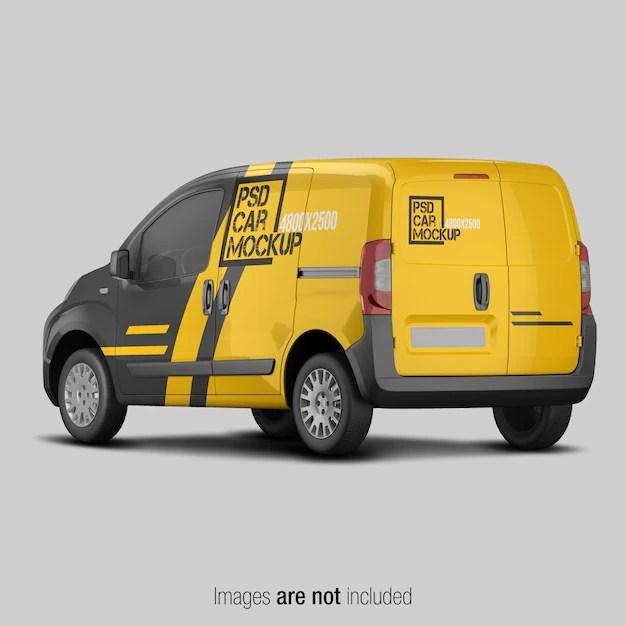 Download Van Mockups Psd Yellow Images