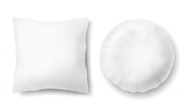 3d realistic comfortable pillows