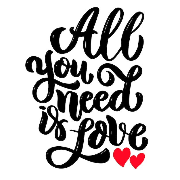 """Download Golden lettering """"all you need is love"""" 