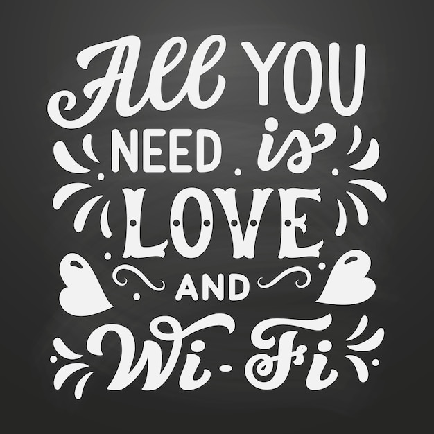 """Download Golden lettering """"all you need is love"""" Vector 
