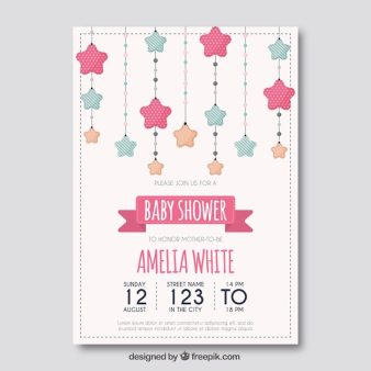 Baby Shower Template With Stars