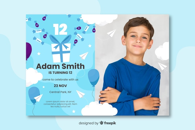 birthday invitation design images