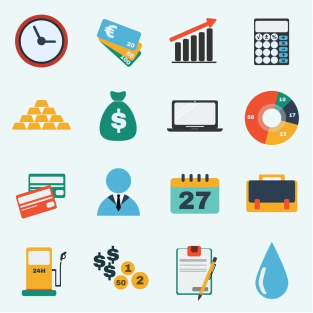 Business icons collection | Free Vector