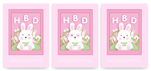 free vector cute birthday invitation
