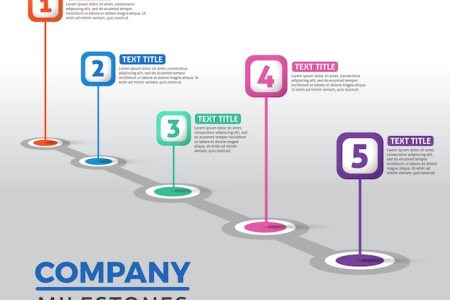 Infographic Timeline Vectors  Photos and PSD files   Free Download Creative company milestones concept
