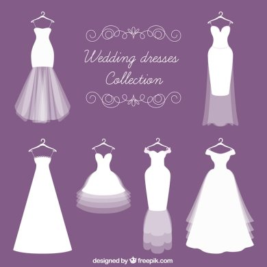 Dress Vectors  Photos and PSD files   Free Download Different kinds of bride dress