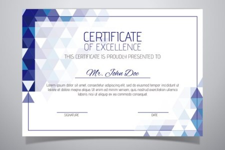 Certificate Of Recognition Vectors  Photos and PSD files   Free Download Elegant certificate template