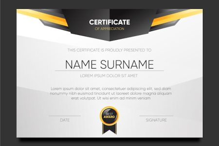 Certificate Template Vectors  Photos and PSD files   Free Download Elegant template certificate