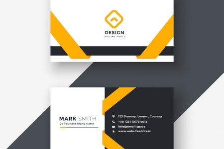 Business Card Vectors  Photos and PSD files   Free Download Elegant yellow business card template