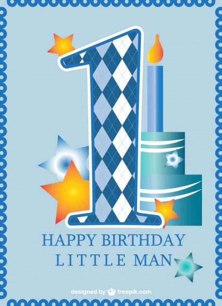 first birthday card baby boy free