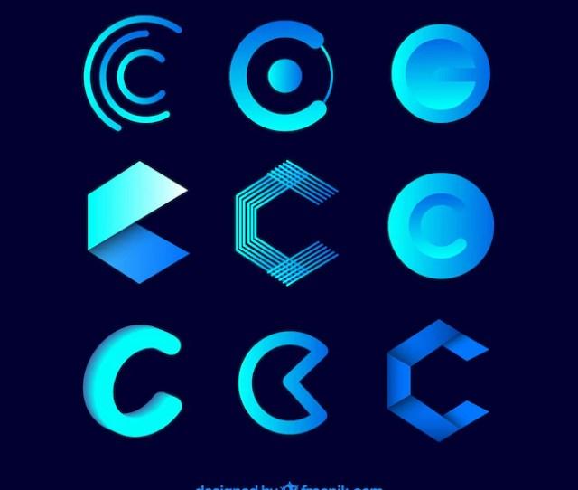 Futuristic Logo Letter C Template Collection