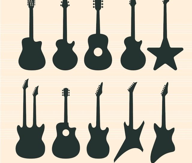 Guitars Silhouettes Set