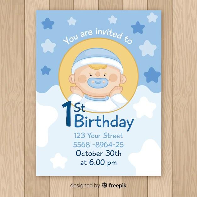 baby boy invitation images free