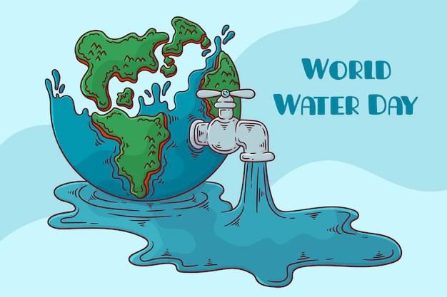 world water day 2021 celebration: Free Vector World Water Day Illustration With Nature And Water Drop