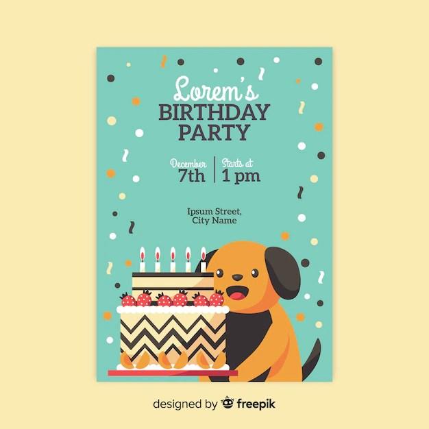 invitation dog images free vectors