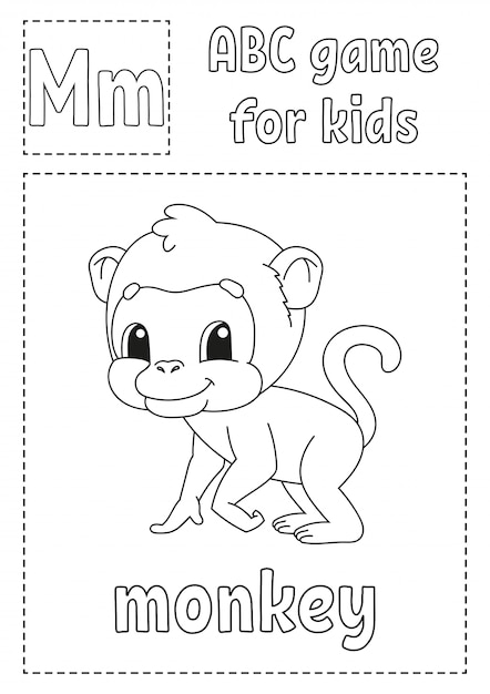 Premium Vector Abc Game For Kids Alphabet Coloring Page