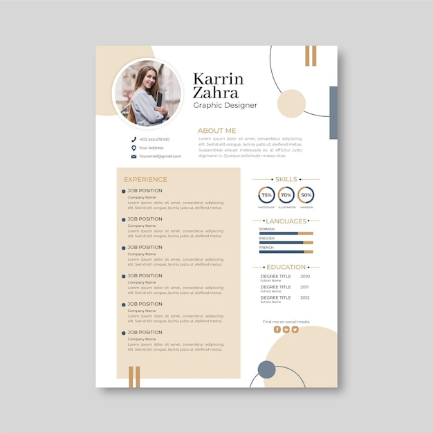 This modern resume template is an exquisite, simple project which would be an excellent fit for more formal job applications e.g. Free Minimal Resume Template Vectors 700 Images In Ai Eps Format