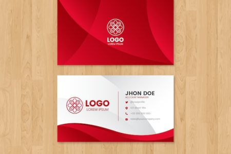 Business Card Vectors  Photos and PSD files   Free Download Modern business card template with abstract shapes