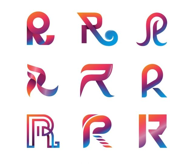 Modern Letter R Logo Collection