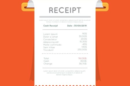 Receipt Vectors  Photos and PSD files   Free Download Payment receipt template with flat design