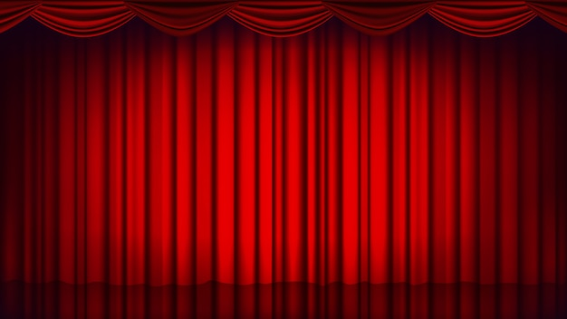 red theater curtain backdrop theater