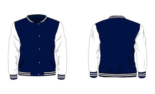 varsity team sport jacket psd mockups. Premium Vector Sport Varsity Jacket