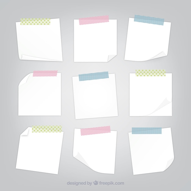 Blank Sticky Note Vector Free Download