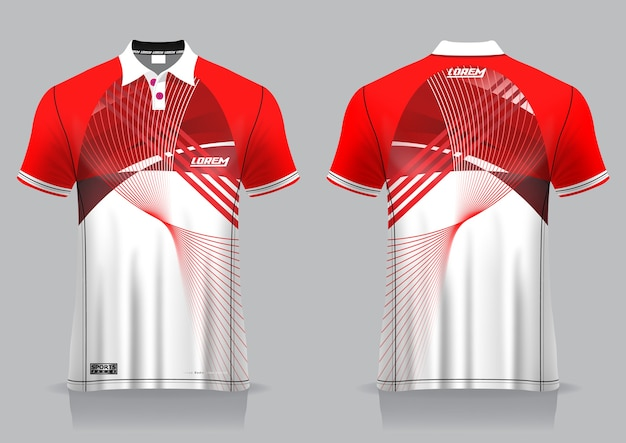 Premium Vector | T-shirt polo sport design, badminton ...