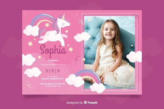 pink birthday invitation images free