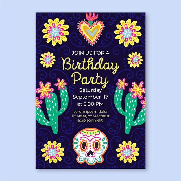mexican birthday images free vectors