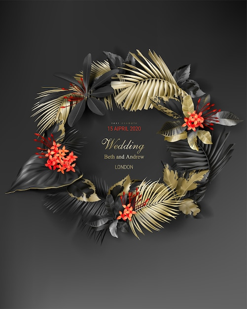 wedding invitation card template with