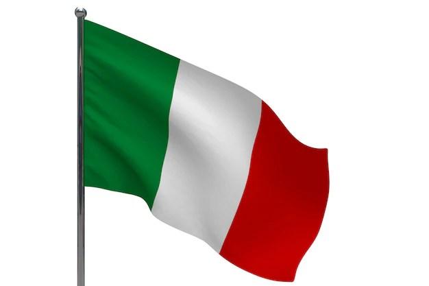 drapeau de l italie photo gratuite