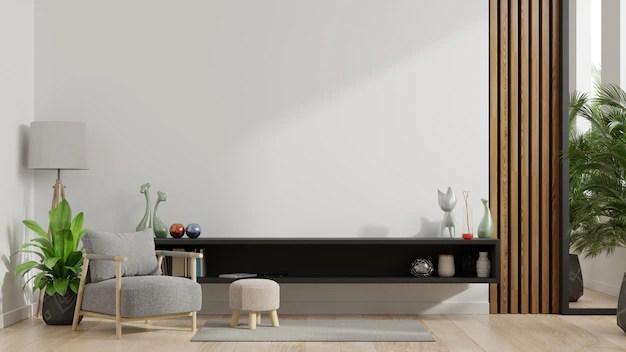 meubles de rangement et mur pour la