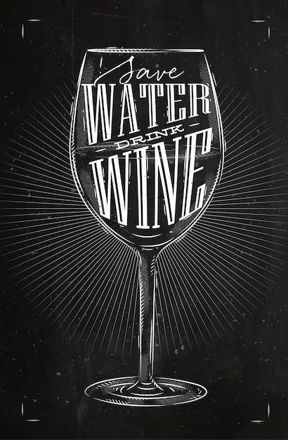 eau boire du vin dessin