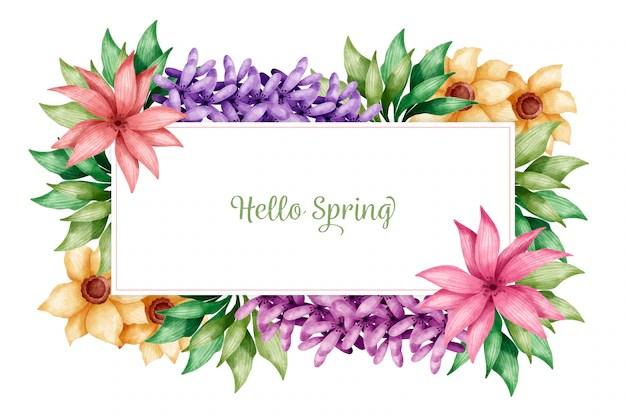 fond d ecran bonjour printemps avec des