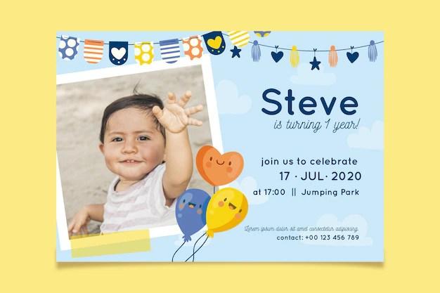 images invitation anniversaire enfant