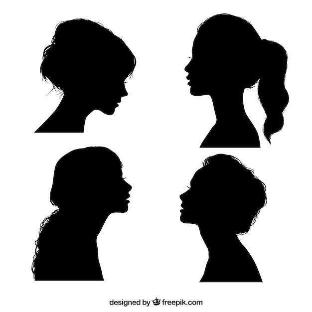 """Résultat de recherche d'images pour """"profil silhouette femme"""""""