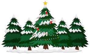 Vecteur Gratuite | Père Noël Et Renne Devant La Maison En Bois